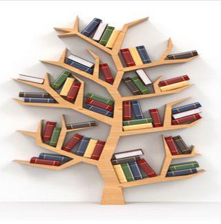 Meuble de bibliothèque en forme d'arbre